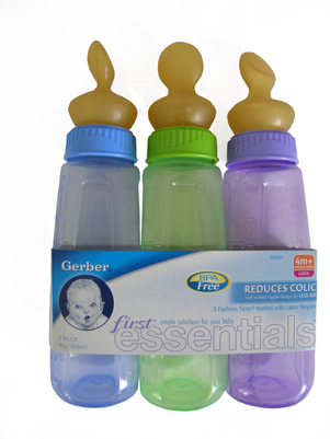 Reusable Baby Nursing Bottle includes the largest Latex NUK nipple, adult ...