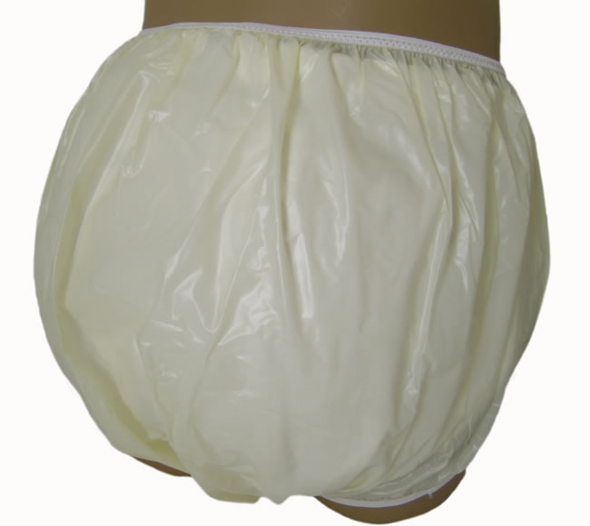 The Baby Pants pullon Pastel Yellow plastic panties are a semi translucent ...