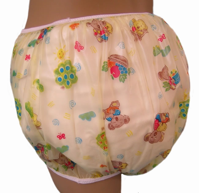 The Baby Pants pullon Aussie Bear Print plastic panties have colorful ...